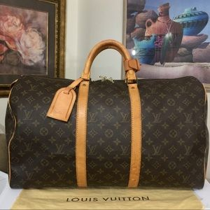 Louis Vuitton Keepall50 Duffel Bag 💼 VI8901